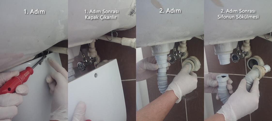 lavabo sökümü ve montajı