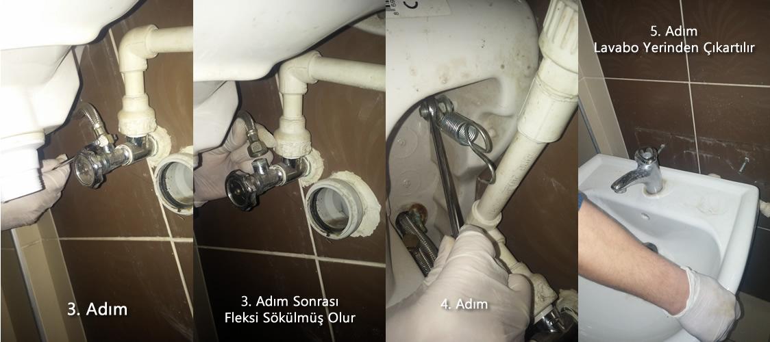 lavabo sökülmesi ve montajı