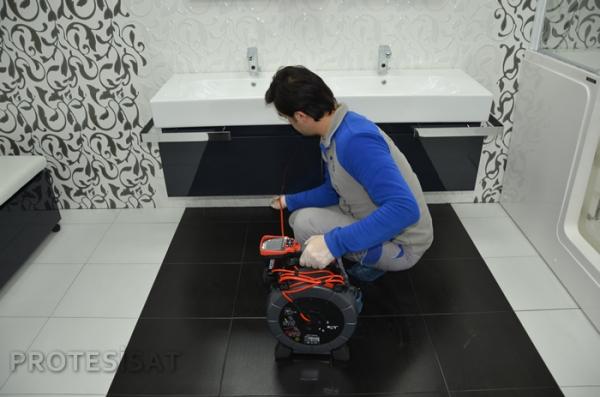 robotla kameralı tuvalet açma
