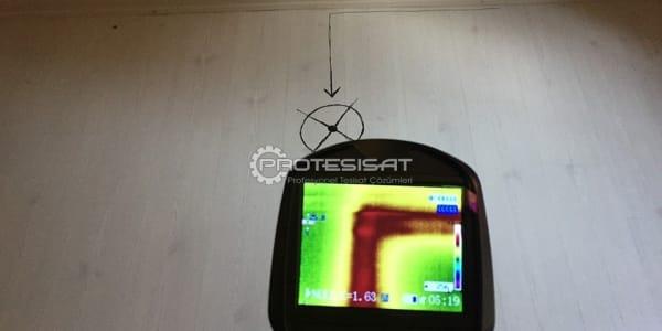 termal kamera ile kalorifer kaçağı tespiti